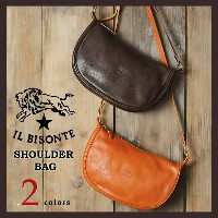IL BISONTE イルビゾンテ ムーン型レザーショルダーバッグ 5412300411【コンビニ受取対応商品】