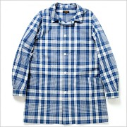 [cpa][c:0][b:3][s:0.83]A VONTADEアボンタージDoctor Shirt Coat -OR 80/2 Indigo Broad check-