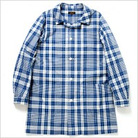 A VONTADEアボンタージDoctor Shirt Coat -OR 80/2 Indigo Broad check-