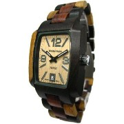 テンス 時計 メンズ 腕時計 木製 Tense Inlaid Multicolored Jumbo Mens Wood Watch J8102IDMQ LFLN