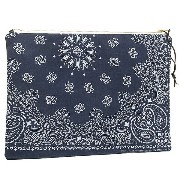 ダブルショット バッグ DOUBLE SHOT DS0016-CL-NVBK LEATHER BANDANA CLUTCH クラッチバッグ NAVY/BLACK