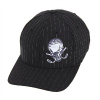 [セール] 【TATTOO GOLF(タトゥーゴルフ)】 ゴルフキャップOB Design FlexFit Golf Hats (Black Pinstripe)