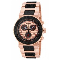 インビクタ 時計 インヴィクタ メンズ 腕時計 Invicta Men's 16864 Ocean Reef Quartz Chronograph Black, Rose Gold Dial Watch