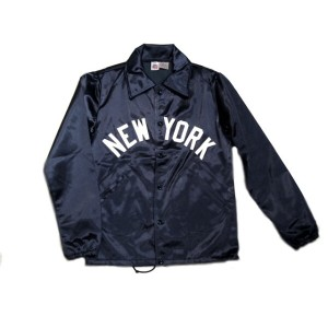 【期間限定30%OFF!】EBBETS FIELD(エベッツフィールド)/別注 60's VINTAGE SATIN COACH JACKET/NEW YORK x POLO GROUNDS/navy