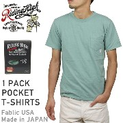 RIDING HIGH ライディングハイ STANDARD PACK COLOR POCKET T-SHIRTS [ARMY GREEN] メンズ Tシャツ パック カットソー グリーン 男性用...