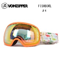 2016 VONZIPPER ボンジッパー ゴーグル FISHBOWL JF4 AF21M704 CORAL SATIN CLEAR CHROME ORANGE ジャパンフィット