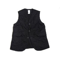 【期間限定30%OFF!】 POST OVERALLS(ポストオーバーオールズ)/#1512 ROYAL TRAVELER HI-COUNT POPLIN QUILTING VEST/black