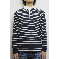 BARBARIAN (バーバリアン) KFE-18 LIGHT WEIGHT FABRIC RUGBY JERSEY L/S (NAVY/IVORY) S size