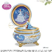 ディズニー シンデレラ オルゴール Disney Celebrating Cinderella Heirloom Porcelain Music Box □