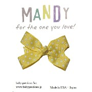 MANDY Baby Bows Yellow with White Dot