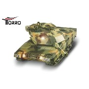 Torro/HengLong 1/24 レオパルド2A5戦車 (迷彩塗装・ゴムキャタピラ・BB仕様)R / C Tank Leopard II A5 1/24 scale from Heng...
