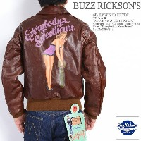 """BUZZ RICKSON'S バズリクソンズ GIL ELVGREN COLLECTION A-2 フライトジャケット """"ROUGH WEAR CLOTHING CO."""" Paint ..."""