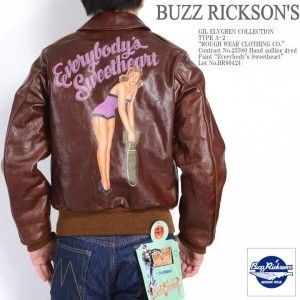 "BUZZ RICKSON'S バズリクソンズ GIL ELVGREN COLLECTION A-2 フライトジャケット ""ROUGH WEAR CLOTHING CO."" Paint ..."