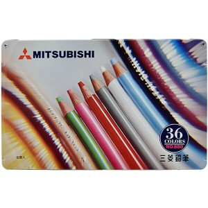 三菱鉛筆 MITSUBISHI PENCIL 色鉛筆 880級 36色 K88036CP
