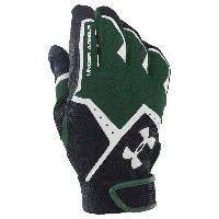 アンダーアーマー メンズ 野球 グローブ 手袋【Under Armour Clean Up VI Batting Gloves】Forest Green/Black/White