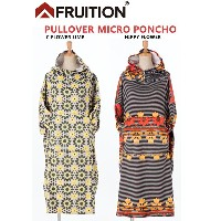 【FRUITION】フリューションPULLOVER MICRO PONCHO (C FLOWER LIME/HIPPY FLOWER)マイクロファイバーポンチョお着替えポンチョ20%OFF!!!