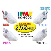 IFME イフミーSC-0002キッズシューズWHITE/PINK/RED/BLUEキッズ/ジュニア/スクールシューズ/上履き/上靴/メッシュ/インソール付き/子供靴/通気性/ホワイト/ピンク...