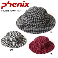 PHENIX フェニックス 帽子 HOUNDS TOOTH HAT FTWD5733 GR/PK/WT【帽子】
