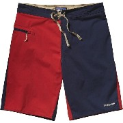 パタゴニア Patagonia メンズ 水着 ボトムのみ【Stretch Wavefarer Board Short】Harlequin/Navy Blue/Classic Red