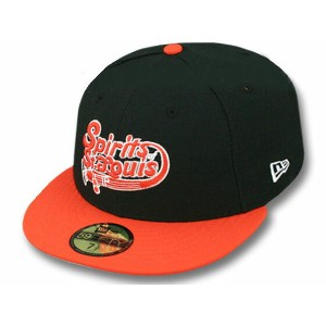 NEW ERA ST. LOUIS SPIRITS 【2T TEAM-BASIC/BLK-ORG】 ニューエラ セントルイス スピリッツ 59FIFTY FITTED CAP フィッテッド キャップ...