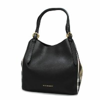 【送料無料】BURBERRY バーバリー 3958975 SM CANTERBURY HOUSE CHECK DERBY LEATHER TOTE