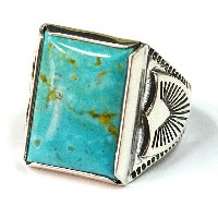 HTC 指輪 #TURQUOISE RECTANGLE RING