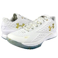 "Under Armour Charged Foam Curry 1 Low ""CHAMPIONSHIP""メンズ White/White/Metallic Gold アンダーアーマー カリー1ロー バッシュ ステ..."
