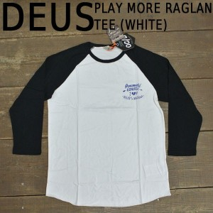 DEUS EX MACHINA/デウス エクス マキナ 七分TEE PLAY MORE RAGLAN TEE WHITE_02P01Oct16