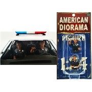 """AMERICAN DIORAMA 1:24scale FIGURE """"Seated Police Officer (Set of 2)"""" アメリカンジオラマ 1:24スケール フィギュア 「シーテッド ..."""