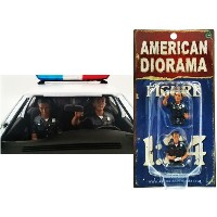 "AMERICAN DIORAMA 1:24scale FIGURE ""Seated Police Officer (Set of 2)"" アメリカンジオラマ 1:24スケール フィギュア 「シーテッド ..."