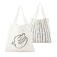 【3can4on(Ladies) (サンカンシオン)】Drawing Tote Bagレディース バッグ|トートバッグ オフホワイト