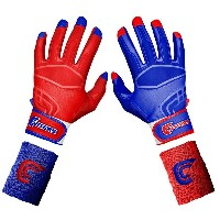カッターズ メンズ 野球 グローブ 手袋【Cutters Prime Command Yin Yang Batting Gloves】Royal/Red