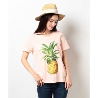 ★dポイント20倍★【TOMMY HILFIGER(トミーヒルフィガー)】AC PLACEMENT PINEAPPLE TEE SS【dポイントでお得に購入】