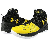 """Under Armour Curry 2 """"LONG SHOT""""キッズ/レディース Black/Taxi/Taxi アンダーアーマー バッシュ ステフィンカリー"""