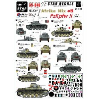 1/35 WWII 独 北アフリカミックス Part.6 II 号戦車A-C型[Star Decals]《取り寄せ※暫定》