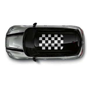【BMW MINI 純正】BMW MINI F54(CLUBMAN)/F60(CROSSOVER)用 ルーフ・ステッカー CHEQUERED FLAG ブラック