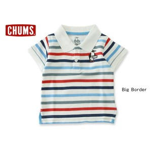 CHUMS kids Booby Dry Polo Shirt■CH22-1002【 キッズ トップス 半袖 ポロシャツ チャムス 】■4014281【5400円以上で送料無料】【16s】【6SS】...