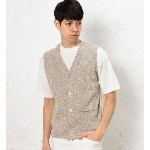 SC KNIT/CUT COMBI BTN/ベスト
