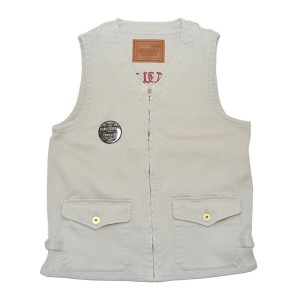 GANGSTERVILLE GENUINE SKULL - VEST (BEIGE) ギャングスタービル ピケ ベスト/GLADHAND【送料無料/あす楽対応】【GANGSTERVILLE...