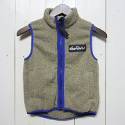 wild things ワイルドシングス [knit fleece vest][kids][oaemeal]