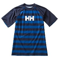 HELLY HANSEN(ヘリーハンセン) HE81601 S/S BORDER RASHGUA Men's L FB(フロートブルー)