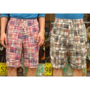 "【送料無料】 SUGAR CANE(シュガーケーン) SUGAR CANE Light ""MADRAS CHECK PATCHWORK EASY SHORTS"" SC51528 【あす楽対応_関東】..."