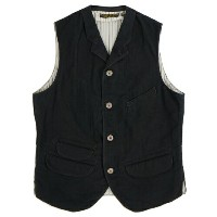 FREEWHEELERS フリーホイーラーズ JACKSON VEST LATE 1800s TAILORED VEST GREAT LAKES GMT. MFG. CO YARN-DYED DEEP BLACK