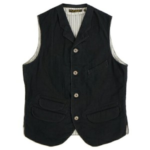 FREEWHEELERS フリーホイーラーズ JACKSON VEST LATE 1800s TAILORED VEST GREAT LAKES GMT. MFG. CO YARN-DYED...