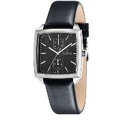 Fjord FJ-3017-01 FINN Men's Black Leather Strap Watch
