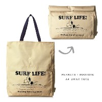 ROOTOTE×PEANUTS A4 2way トート バッグ ≪Surf Life≫ クラッチバッグ SNOOPY 通勤 通学 ランチ 大容量 Vintage PEANUTS 【あす...