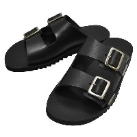 NUOVO NICAR(ヌオヴォ ニカール)【MADE IN ITALY】 LEATHER SANDAL(イタリア製 レザーサンダル) BLACK