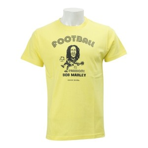 【SOCCER JUNKY】 サッカージャンキー BOB MARLEY FOOTBALL IS FREE DOM Tシャツ SJ16871 WSP 027YEL
