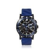 Burberry Men's 42mm Chronograph Blue Rubber Stainless Steel Case Watch BU9807
