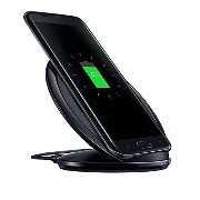 for Samsung サムスン Galaxy S7 / S7 edge Fast Wireless Charger Stand ワイヤレス充電スタンド ブラック
